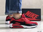 Мужские кроссовки Nike Air Max 90 (красно-черные) 9056, фото 4