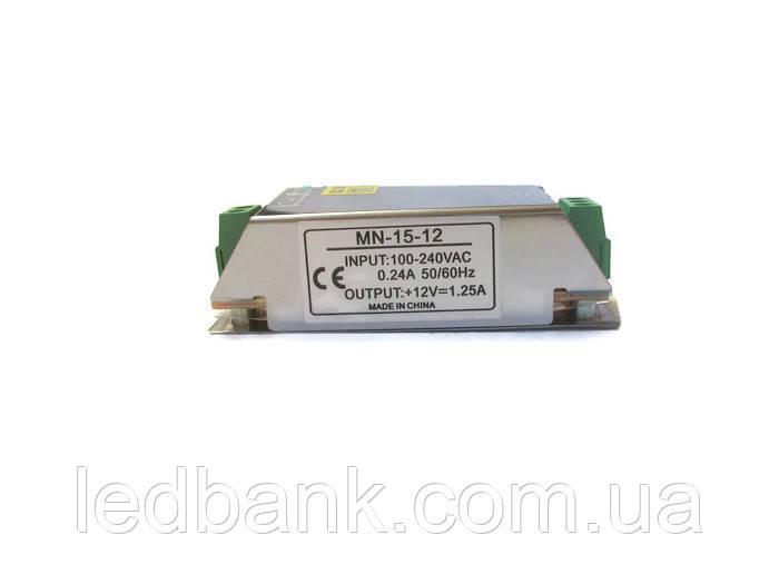 Блок питания для светодиодной ленты 12V 15W MN-15-12 SMALL