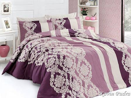 Комплект постельного белья First Choice Сатин Люкс Kavin Pudra, фото 2