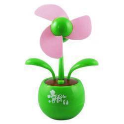 Настольный USB-вентилятор Цветок, зеленый