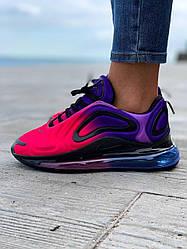Женские кроссовки Nike  Air Max 720 Violet Red (фиолетово-розовые)