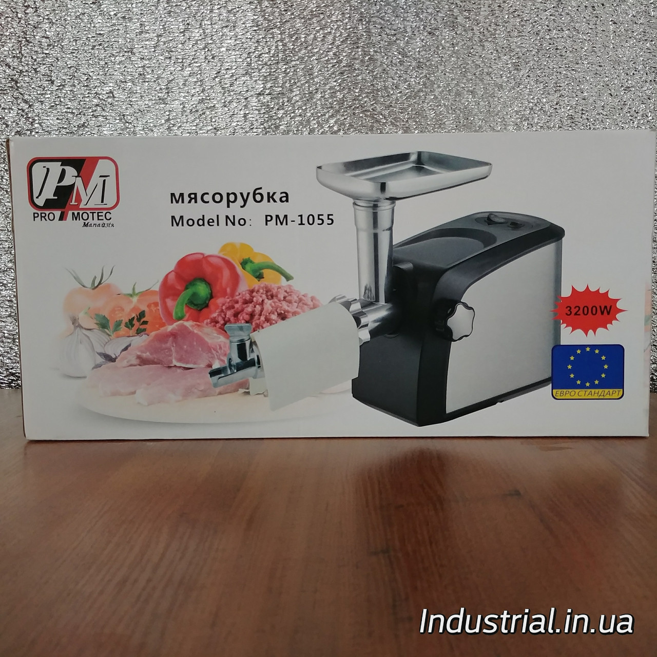 Мясорубка Promotec PM 1055,электрическая с соковыжималкой 3200 Вт