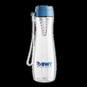 Бутилка BWT 600 мл для води синя зі вставкою для цитрусових