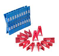 Прищепки для белья с полипропиленовым фиксатором (40 штук)