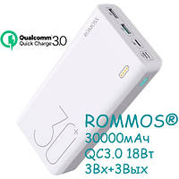 Power Bank Внешний аккумулятор 30000мАч QC3.0 18Вт Romoss Sense 8+ Premium