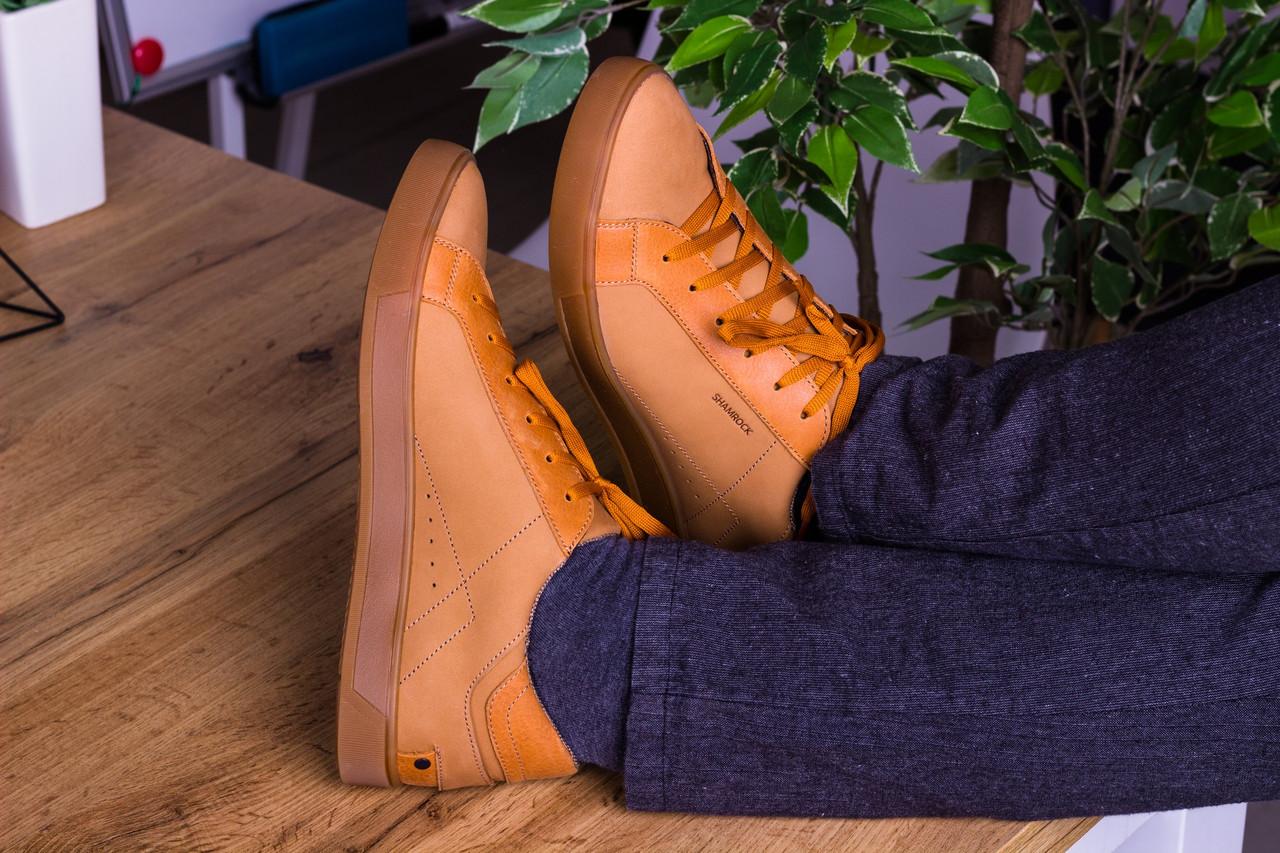 Стильные кожаные кроссовки 40-45 р бежевый