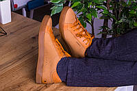 Стильные кожаные кроссовки 40-45 р бежевый, фото 1
