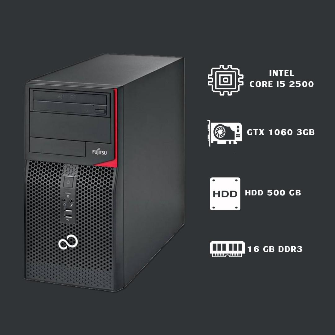 Игровой Компьютер Intel Core I5 2500+GTX1060 3gb+ 16gb ddr3.