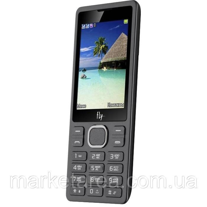 Кнопочный телефон с большим экраном на 2 сим карты Fly FF282 Black