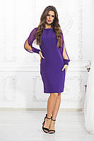 Платье женское полубатальное сиреневое, фото 1