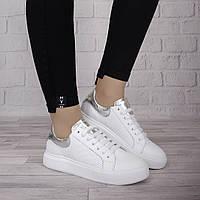 Женские стильные кроссовки Ditas белого цвета натуральная кожа 624
