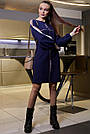 Жіноче синє плаття з лампасами, фото 2