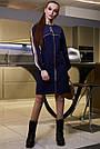 Жіноче синє плаття з лампасами, фото 3