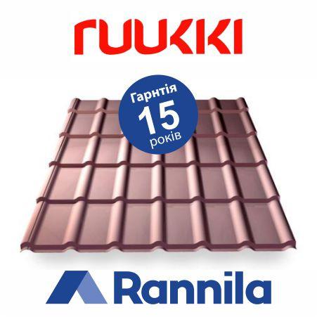 Металочерепиця Rannila (Ruukki) Grand Decorrey matt