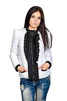 Стильная женская куртка Рюша (белый)