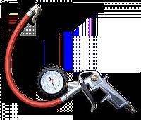 Пистолет для подкачки шин с манометром, STG01