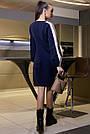 Жіноче синє плаття з лампасами, фото 5