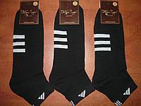 """Гладь. Мужские носки """"Добра пара"""" """"в стиле"""" Adidas. р. 31 (45-46). Черные."""