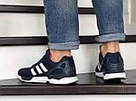 Мужские кроссовки Adidas Zx Flux (темно-синие с белым и красным) 9062, фото 5
