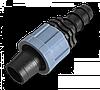 Коннектор для краплинної стрічки - трубки PE 16мм, DSTA08-16L