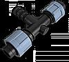 Трійник 2 x стрічка/ З'єднувач для трубки 16мм, DSTA03-16L