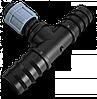 Трійник стрічка/ 2 х З'єднувач для трубки 25мм, DSTA04-25L