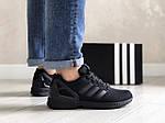 Мужские кроссовки Adidas Zx Flux (черные) 9063, фото 2
