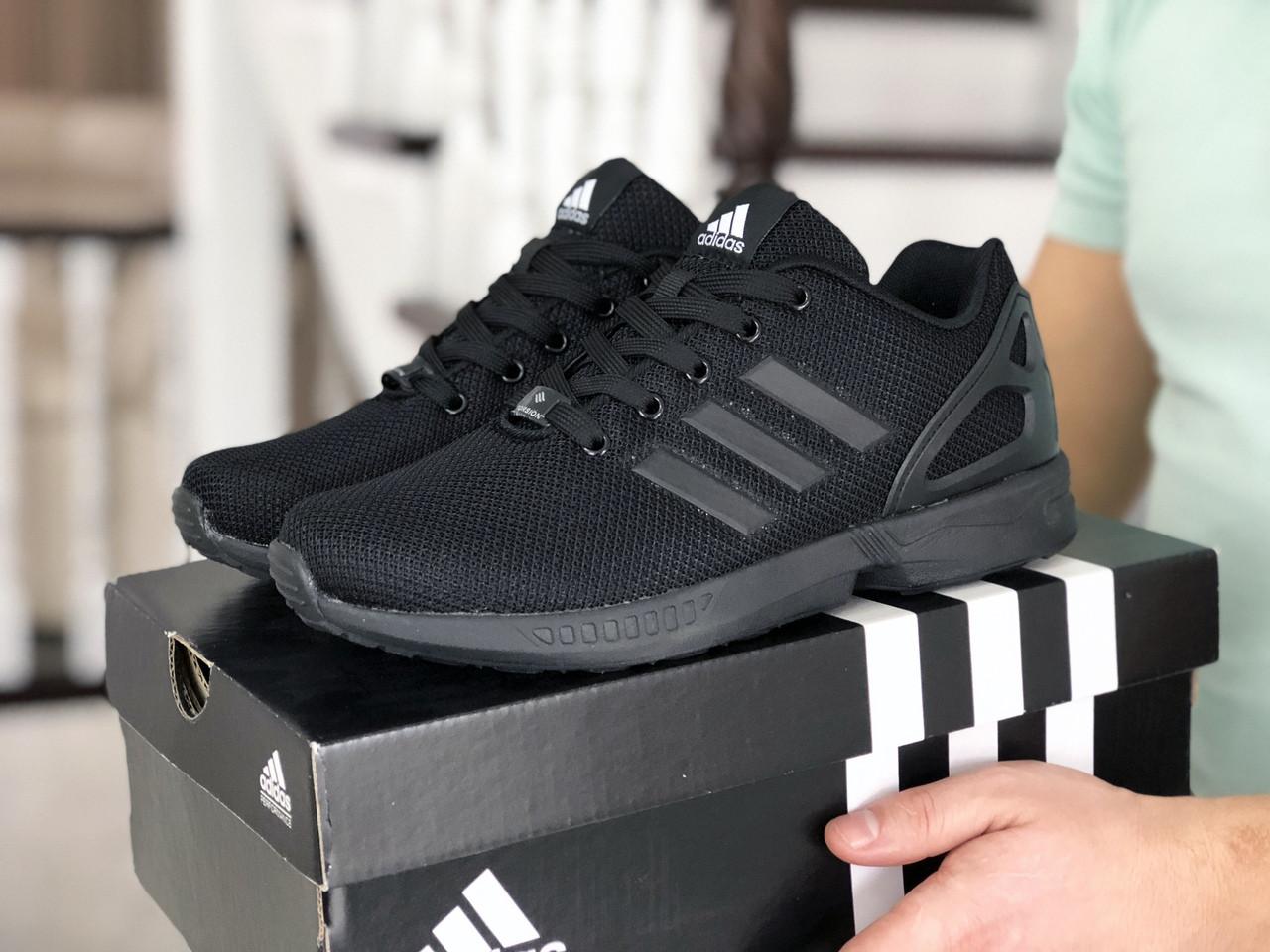 Мужские кроссовки Adidas Zx Flux (черные) 9063