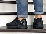 Мужские кроссовки Adidas Zx Flux (черные) 9063, фото 4