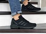 Мужские кроссовки Adidas Zx Flux (черные) 9063, фото 5