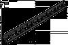 Бордюр садовий RIM-BOARD - 55/1000мм, OBRB55