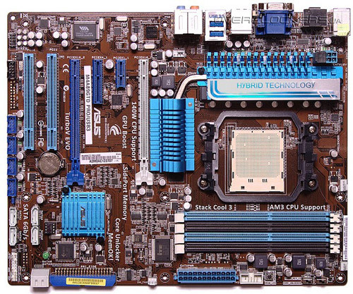 Материнская плата, ASUS M4A89GTD PRO/USB3, процессор Phenom II, сокет AM3+