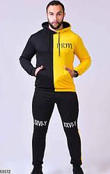 Мужской спортивный костюм желто-черный 63572