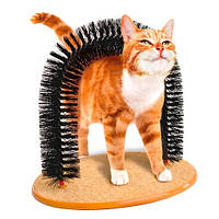 Чесалка щетка Арка когтеточка 2в1 для кошек кота Purrfect Arch