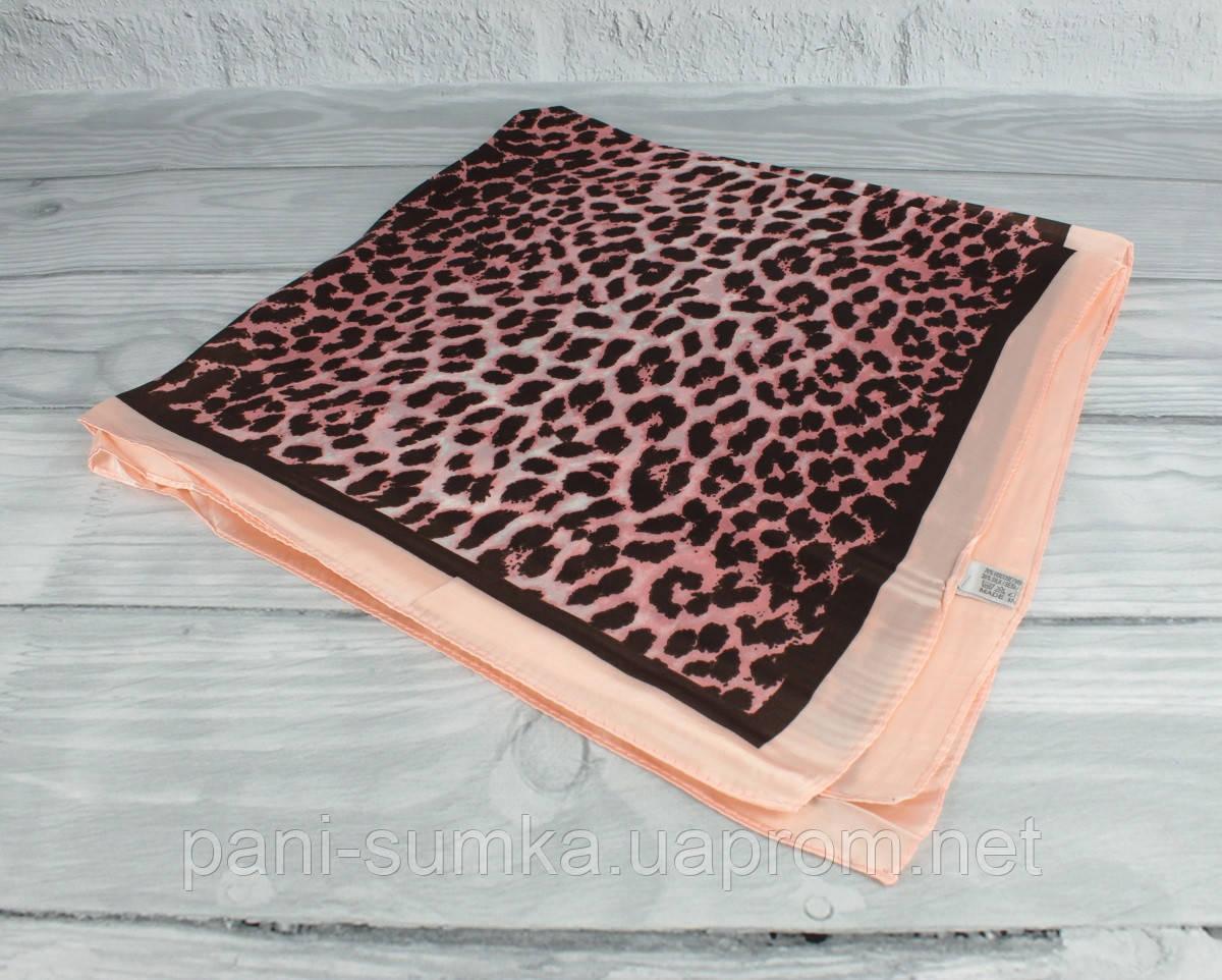 Шелковый шейный платок Accessories 0011-04, леопардовый принт
