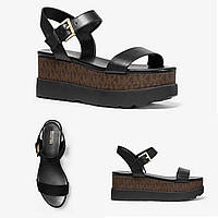 Босоножки Michael Kors Marlon Leather and Logo Platform Sandal