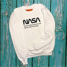 Свитшот белый NASA Na • кофта наса