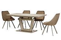 Раздвижной стол ТММ-51-1 матовый капучино от Vetro Mebel 120/160