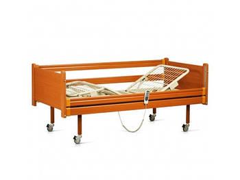 Ліжко медична з електромотором на колесах, з перилами (4 секції) (в комплекті: матрац)