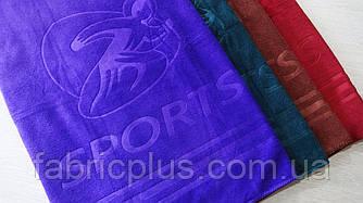 Полотенце банное  70 х 140 см SPORTS (микрофибра) цвет в ассортименте