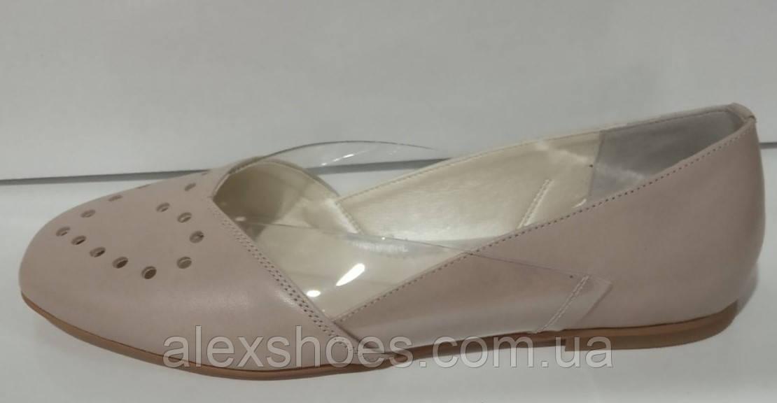 Балетки женские из натуральной кожи от производителя модель КС2005-4