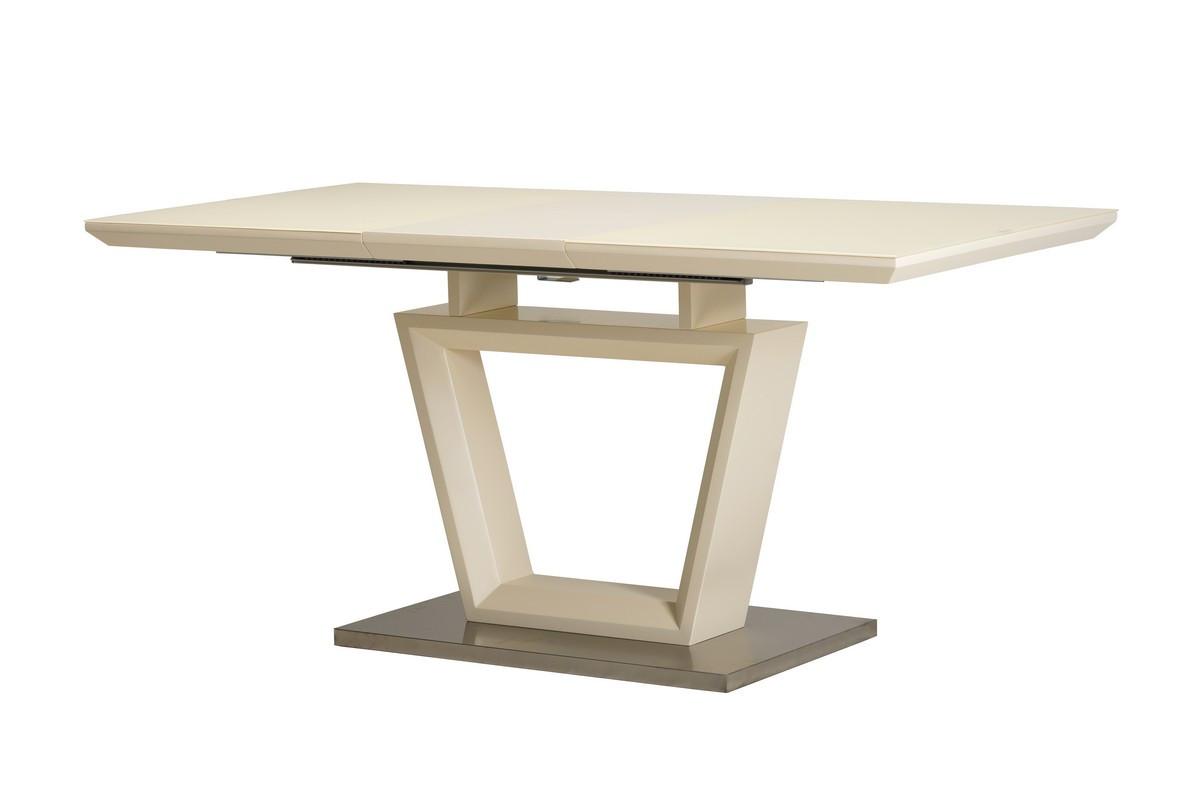 Раздвижной стол ТММ-51-1 матовый молочный от Vetro Mebel 120/160 (бесплатная доставка)