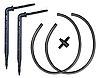 Комплект - капельница прикорневая угловая 2шт, отрез трубки 50см 2шт, двойник - 4 мм, DSK-2122L