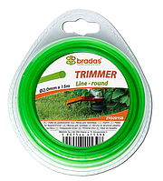 """Леска для триммера TRIMMER """"круг"""" 1,6x15 блистер, ZTO1615B"""