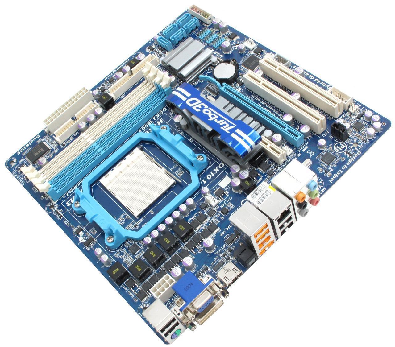 Материнская плата, Gigabyte GA-880GM-UD2H, процессор AMD Phenom II, сокет AM3