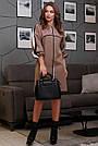 Женское кофейное платье с лампасами, фото 2