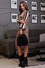Женское кофейное платье с лампасами, фото 4