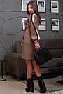 Женское кофейное платье с лампасами, фото 5