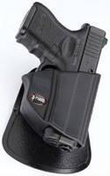 Кобура Fobus для Glock-26 с поясным фиксатором цвет:black (26DB USA), фото 1