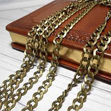 Цепочка сумочная, звено 7,2 мм, цвет античная бронза, 50 см